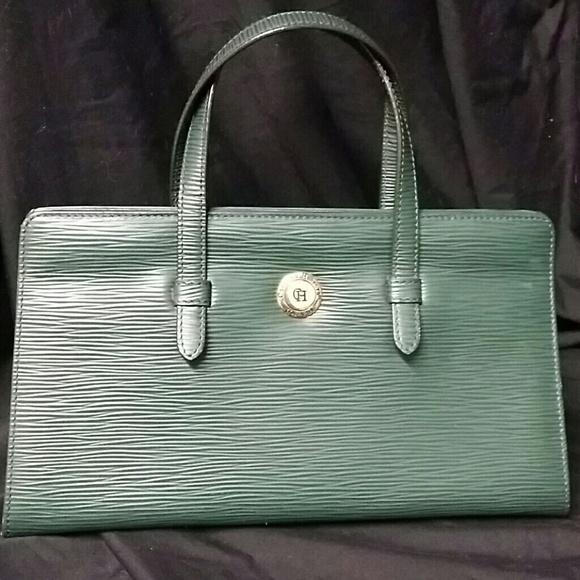 ca96e478a0 Carolina Herrera Handbags - Carolina Herrera Green Leather Purse